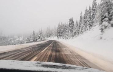 Закарпатье следующее?: Карпаты в Румынии усыпало снегом в середине лета