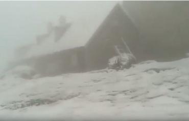 В румынских Карпатах вместо лета началась зима