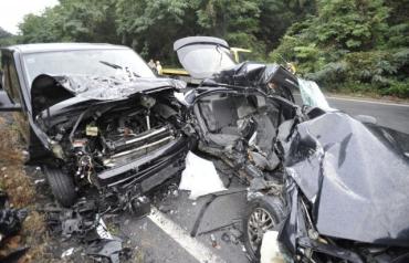 Опубликованы кадры с места аварии с участием Милана Шашика из Закарпатья