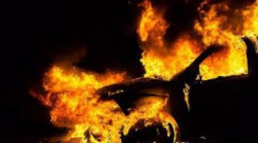 В Закарпатье конкуренты по контрабанде подожгли иномарку местному жителю