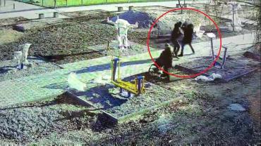 Женщину с ребёнком жестоко избили на детской площадке