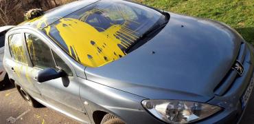Охота на политиков: В Ужгороде уже второй нардеп обнаружил свой автомобиль изгаженным