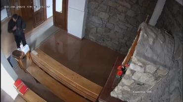 Курьез дня: В Закарпатье набожный вор после кражи.. перекрестился