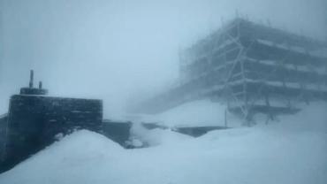 В Закарпатье на начале апреля начал падать снег