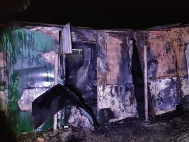 В Ужгороде на месте заброшенного контейнера найден обгорелый труп