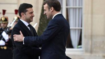 Встреча Зеленского и Макрона в Париже началась