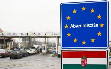 На границе с Венгрией чтобы пересечь границу люди стоят в пробках больше трьох часов