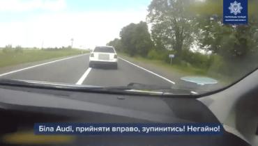 Погоня в Закарпатье: Несколько экипажей гнались за неуловимым наглецом