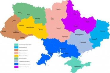 Найдите Закарпатье на карте Украины после децентрализации