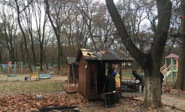 В Ужгороде тушили пожар в Боздошском парке