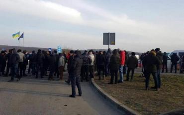 На Волыни активисты заблокировали международную трассу