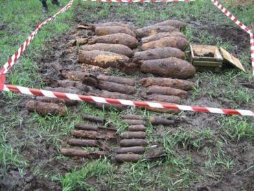 МЧС Закарпатья обезвредили в лесу 40 ржавых боеприпасов