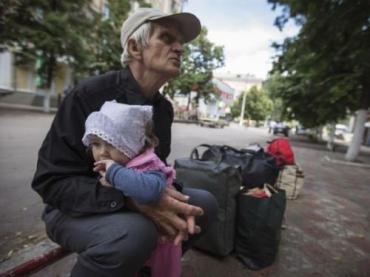 На Донбассе люди бросают свои дома, чтобы спасти свою жизнь
