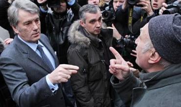 Простой украинец побеседовал с Ющенко