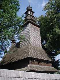 Дерев'яна Святодухівська церква XVII століття в Колочаві