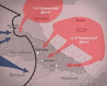 67 лет назад Советские войска перешли Карпаты, освободив Ужгород, Чоп и Мукачево