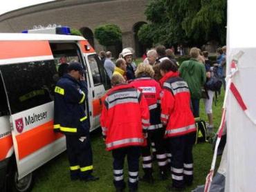 Ударом молнии ранены 13 человек