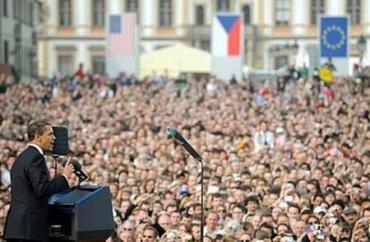 Барак Обама выступил с речью на Градчанской площади в Праге
