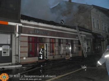 Центр Ужгорода от полного уничтожения огнем спасли бойцы МЧС