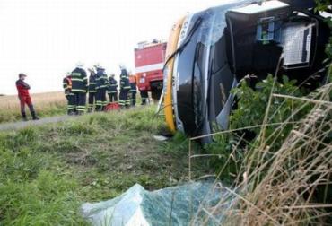 В Чехии автобус попал в ДТП, 4 раненых
