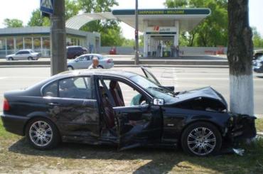 В Киеве в цепной аварии пострадало 5 автомобилей