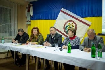 Учасники круглого столу закарпатських профспілок на Міжгірщині.