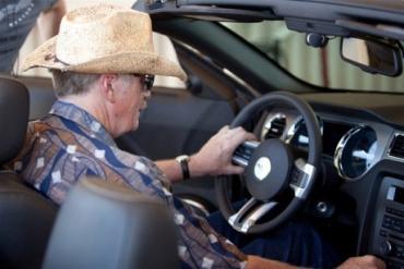 Роджер смог увидеть Mustang «с другой стороны»