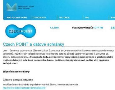 Czech POINT, http://www.czechpoint.cz/web/index.php