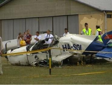 В Венгрии разбился легкомоторный самолет