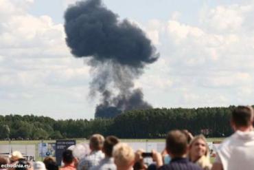 В Польше разбился белорусский самолет Су-27