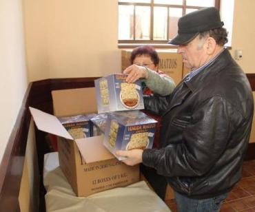 У Берегово з Угорщини прибула маца для єврейської громади міста.
