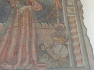 Відвідувачі угорської церкви поруч із Закарпаттям побачили на фресці Путіна