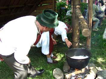 Бануш — излюбленная пища горцев Закарпатья