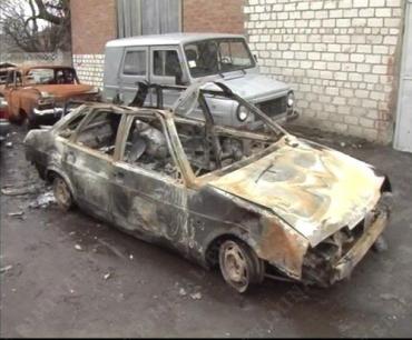 Машина с угонщиками вылетела в кювет, перевернулась, а затем и загорелась
