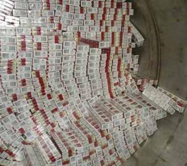 Тайник с 15 000 пачек сигарет обнаружила налоговая милиция на Закарпатье