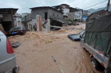 Наводнение в китайском городе Чунцин