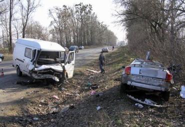 Лобовая авария на Ровенской трассе