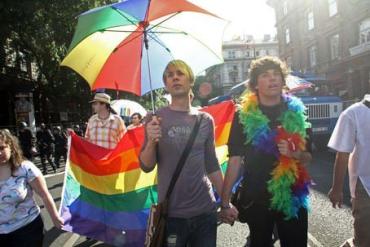 На Гей-параде в Будапеште принимали участие несколько сот гомосексуалистов