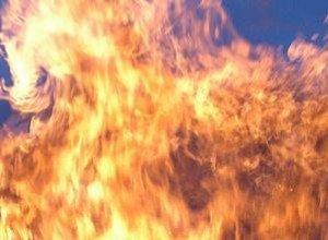 В Тячеве загорелась летняя кухня...