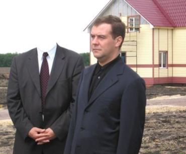 На снимке Медведев и... Президент Украины