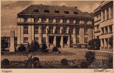Здание нынешнего Закарпатского управления НБУ в Ужгороде на старой венгерской открытке