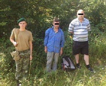 На Закарпатье пограничники задержали двух грузин нелегалов