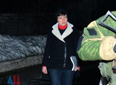 Савченко приехала в колонию в Макеевке
