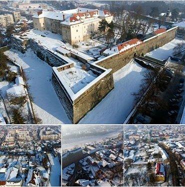 Зимняя красота Ужгородского замка
