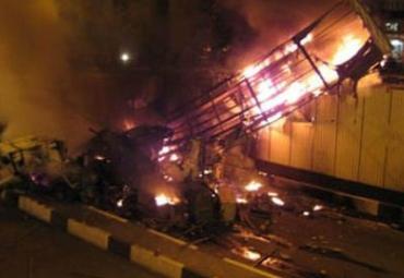 Автобус рухнул с 30-метровой высоты