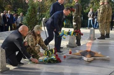 В Ужгороде отметили День защитника Украины