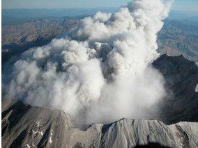В России началось извержение вулкана Ключевского.