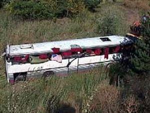 В Анталии перевернулся автобус с туристами