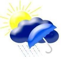 В Ужгороде днем кратковременный дождь, гроза