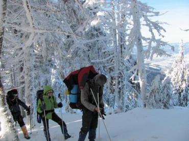 Похід сніжними Карпатами припав на кінець січня